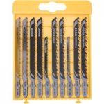 DeWalt DT2290 Wood Cutting Jigsaw Blade Set 10pc