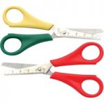 Decree 13cm Ruler Scissors Right Hand Red – Pack of 12