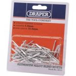 Draper 14007 50 x 3.2mm x 5.2mm Blind Rivets