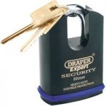 Draper Expert 64198 61mm Heavy Duty Stainless Steel Padlock & 2 Keys