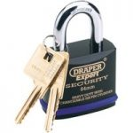 Draper Expert 64193 54mm Heavy Duty Stainless Steel Padlock & 2 Keys
