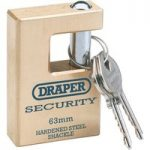 Draper Expert 64201 63mm Quality Close Shackle Solid Brass Padlock…