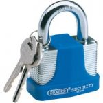 Draper 64181 44mm Laminated Steel Padlock and 2 Keys