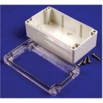 Hammond 1554VB2GYCL Watertight PC Enclosure Clear Lid 240 x 160 x …