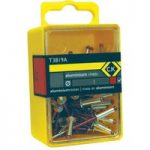 CK Tools T3819A 412 Pop Rivets Aluminium 3.15x9mm Box Of 50