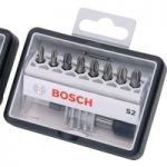 Bosch 2607002561 Extra Hard Pozi Screwdriver Bit Set 8+1