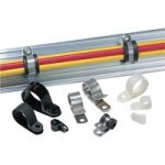 HellermannTyton 211-15260 ALU26C-ALUCR-NABK-L1 Mounting Clip Alumi…