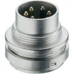 Lumberg SFV 50 5 Pin Male DIN Plug IEC 60130-9 Straight Panel Mount