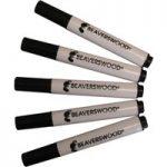 Beaverswood Wet Wipe Marker Pen – Black – Pack Of 10