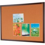Metroplan Eco-Friendly Noticeboards 1200x1500mm Mahogany Effect