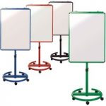 Metroplan Ultimate Mobile Flipchart Easel Red