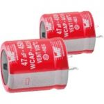 Würth AI3H 220µF 20% 450VDC Snap-In Alum. Electrolytic Capacitor 22×51