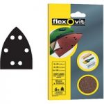 Flexovit 63642526408 Detail Hook & Loop Sanding Sheets 95 x 145mm …
