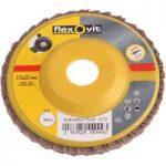 Flexovit 63642527526 Flap Discs For Angle Grinders 115mm Medium 80…
