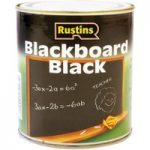 Rustins BLAB125 Quick Drying Blackboard Black Paint 125ml