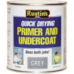 Rustins GYPU250 Quick Dry Primer & Undercoat Grey 250ml