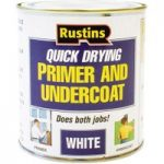 Rustins WHPU500 Quick Dry Primer & Undercoat White 500ml