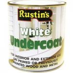 Rustins WHIU1000 White Undercoat 1 Litre