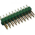 TE Connectivity 826942-3 Ampmodu II Short Pin Header Tin 2 x 3P Green