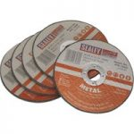 Sealey PTC/100CET5 Cutting Disc Ø100 x 1mm 16mm Bore – Pack Of 5