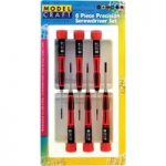 Model Craft PSD1600 6pce Slotted Blade Screwdriver Set
