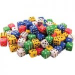 Invicta 052459 Traditional Spot Dice 15mm Tub of 100