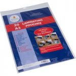 Cathedral Products A316020 A3 Laminating Pouches 150 micron Pack 20
