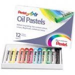 Pentel PHN12 Oil Pastels – Pack of 12