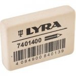 Lyra 7401400 Indian Rubber Eraser White Box of 40
