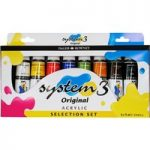 Daler Rowney System 3 Acrylic Paint Assorted Set (8 x 75ml Tubes)