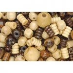 RVFM Assorted Wooden Beads – Tub of 200