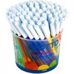 Giotto 521500 Turbo Colour Fibre Pens Pot 96