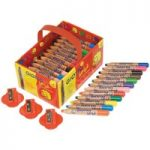 Giotto 461300 Bebe Large Pencils & Sharpeners – Pack of 36