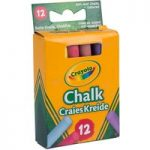 Crayola 12 Anti Dust Chalk Coloured