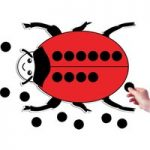 Ed Tech Giant Ladybird + 20 Spots 385mm x 290mm