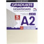 Daler Rowney A2 Graduate Mount Board Pack of 5 Ivory