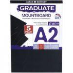 Daler Rowney A2 Graduate Mount Board Pack of 5 Black