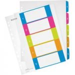 Leitz Multicolour Index Printable WOW PP A4+ tabs 1-5