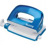 Leitz Blue Metal Mini 2 Hole Punch WOW NeXXt 10 Sheet