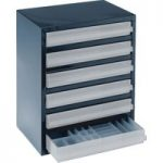 Raaco 137591 6-3 6 Drawer 250 Series Storage Cabinet