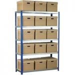Eco-Rax Shelving Bay 1800 x 1200 x 450mm 15 x Brown Archive Boxes …