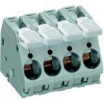 WAGO 2716-105 5 Pole 10mm 76A 30° Lever PCB Terminal Block Grey
