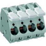 WAGO 2716-108 8 Pole 10mm 76A 30° Lever PCB Terminal Block Grey