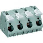 WAGO 2716-204 4 Pole 15mm 76A 30° Lever PCB Terminal Block Grey