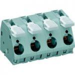 WAGO 2716-206 6 Pole 15mm 76A 30° Lever PCB Terminal Block Grey