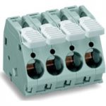 WAGO 2716-102 2 Pole 10mm 76A 30° Lever PCB Terminal Block Grey