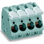 WAGO 2716-106 6 Pole 10mm 76A 30° Lever PCB Terminal Block Grey