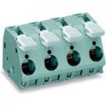 WAGO 2716-205 5 Pole 15mm 76A 30° Lever PCB Terminal Block Grey