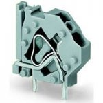 WAGO 745-801 1 Pole 5mm 32A 45° Stackable PCB Terminal Block Grey