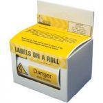 Industrial Signs IS24100R Danger 415V 75×25 – Pack of 250 S/a Viny…
